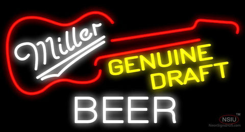 Miller Genuine Draft Guitar Neon Sign