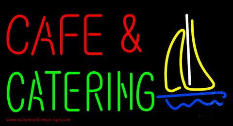 Cafe and Catering Neon Sign