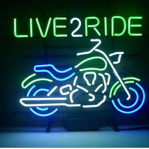 Professional  New Harley Motorcycle Love 2 Ride Ride Em Hard Real Neon Beer Bar Pub Sign