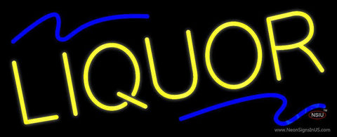 Yellow Liquor Neon Sign