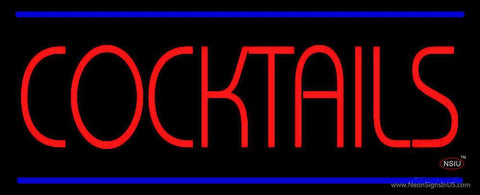 Red Cocktail Neon Sign