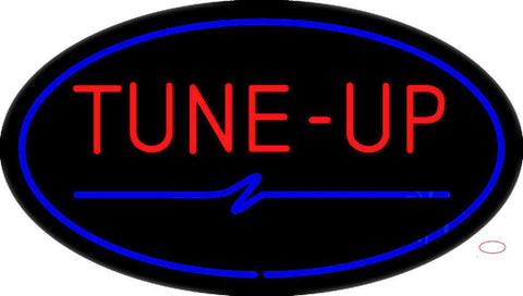 Tune-Up Blue Oval Neon Sign