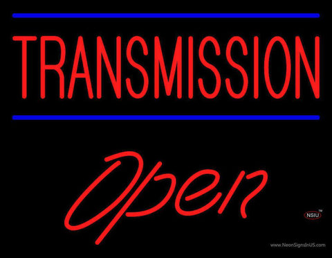 Red Transmission Open Neon Sign
