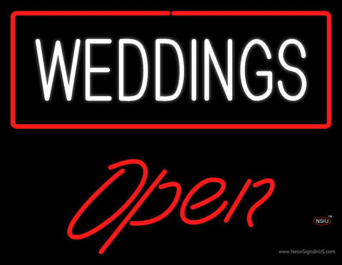 Weddings Open Neon Sign