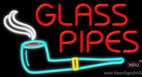 Glass Pipes Neon Sign