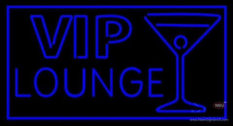 Vip Lounge with Martini Glass Neon Sign