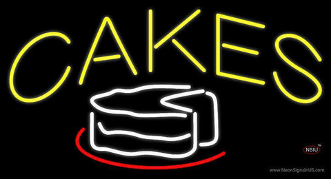 Yellow Cakes Neon Sign