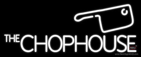 The Chophouse White Neon Sign
