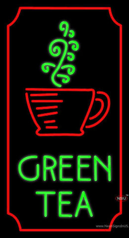 Vertical Green Tea Neon Sign