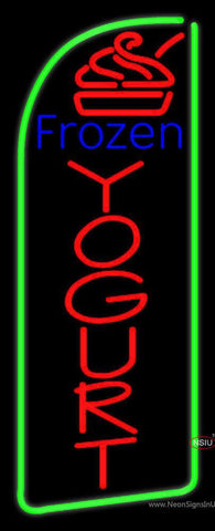 Vertical Frozen Yogurt Neon Sign