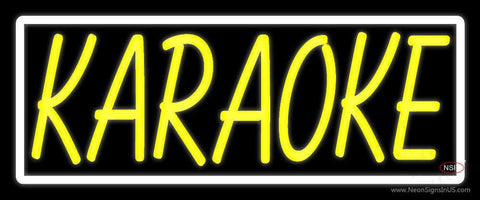 Yellow Karaoke Border Neon Sign
