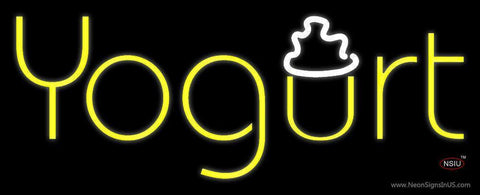 Yellow Yogurt Neon Sign