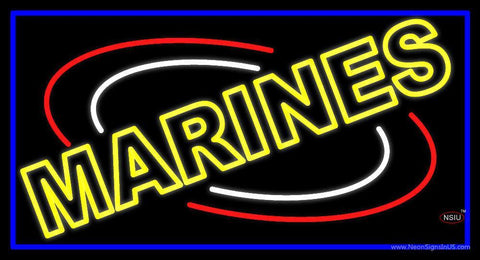 Yellow Marines Neon Sign