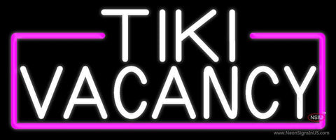White Tiki Vacancy Neon Sign