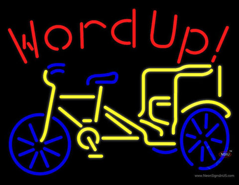 Word Up Neon Sign