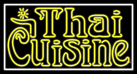 Yellow Thai Cuisine Neon Sign