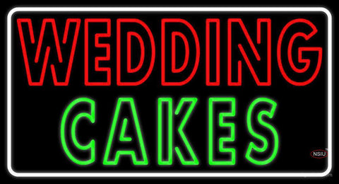 Wedding Cakes Double Stroke Neon Sign