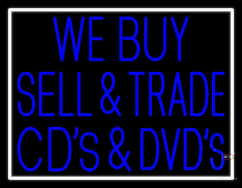 We Buy Sell Cds Dcds  Neon Sign