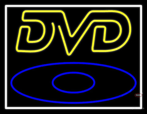 Yellow Dvd Neon Sign