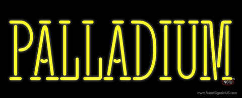 Yellow Palladium Neon Sign