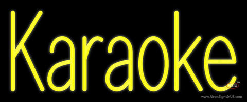 Yellow Karaoke  Neon Sign