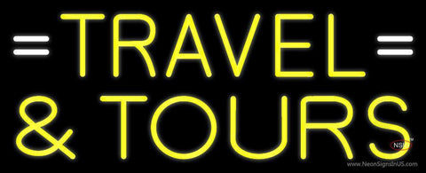 Yellow Travel And Tours Neon Sign