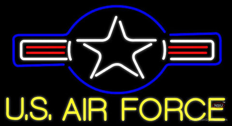 Yellow Us Air Force Neon Sign