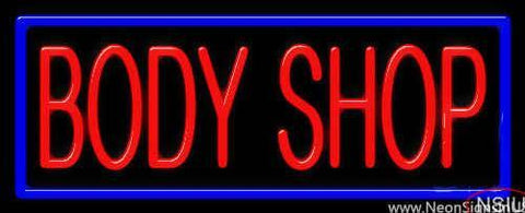 Body Shop Real Neon Glass Tube Neon Sign