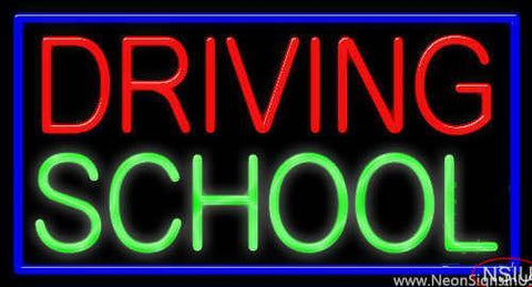 Driving School Real Neon Glass Tube Neon Sign