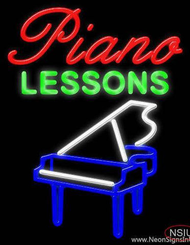 Piano Lessons Real Neon Glass Tube Neon Sign