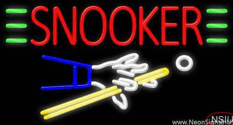 Snooker Real Neon Glass Tube Neon Sign