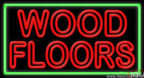 Wood Floors Real Neon Glass Tube Neon Sign