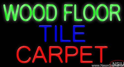 Wood Floor Tile Carpet Real Neon Glass Tube Neon Sign