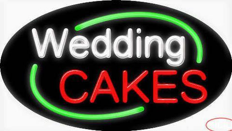 Wedding Cakes Real Neon Glass Tube Neon Sign