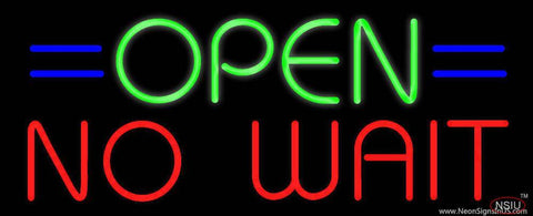 Open No Wait Real Neon Glass Tube Neon Sign
