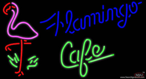 Flamingo Cafe Real Neon Glass Tube Neon Sign