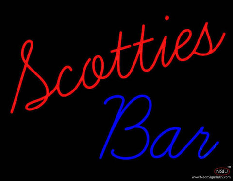Scotties Bar Real Neon Glass Tube Neon Sign