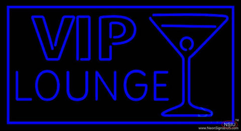 Vip Lounge with Martini Glass Real Neon Glass Tube Neon Sign