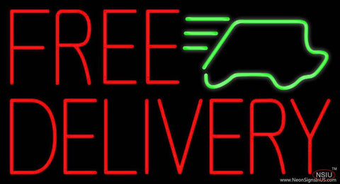 Red Free Delivery With Car Real Neon Glass Tube Neon Sign