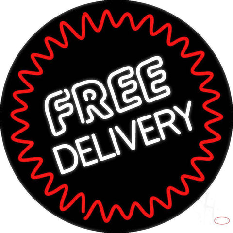 Round Free Delivery Real Neon Glass Tube Neon Sign