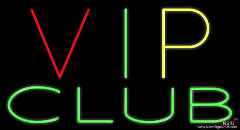 VIP Club Real Neon Glass Tube Neon Sign