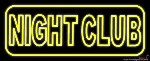 Yellow Night Club Real Neon Glass Tube Neon Sign