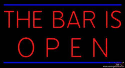 The Bar is Open Handmade Art Neon Sign