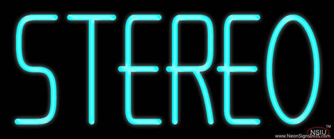 Turquoise Stereo Block Real Neon Glass Tube Neon Sign