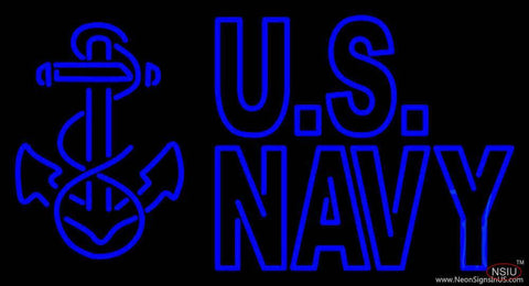Us Navy Real Neon Glass Tube Neon Sign