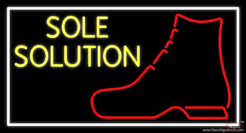 Yellow Sole Solution Real Neon Glass Tube Neon Sign