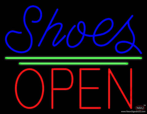 Blue Shoes Open With Line Real Neon Glass Tube Neon Sign
