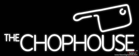 The Chophouse White Real Neon Glass Tube Neon Sign