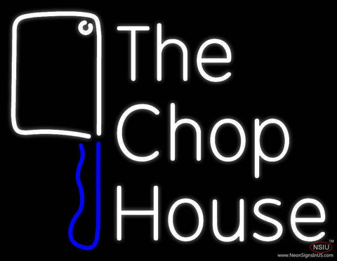 The Chophouse With Knife Real Neon Glass Tube Neon Sign