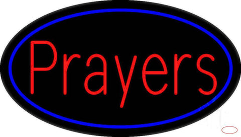 Red Prayers Real Neon Glass Tube Neon Sign